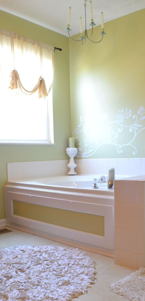 beautifying a builder's grade bathroom