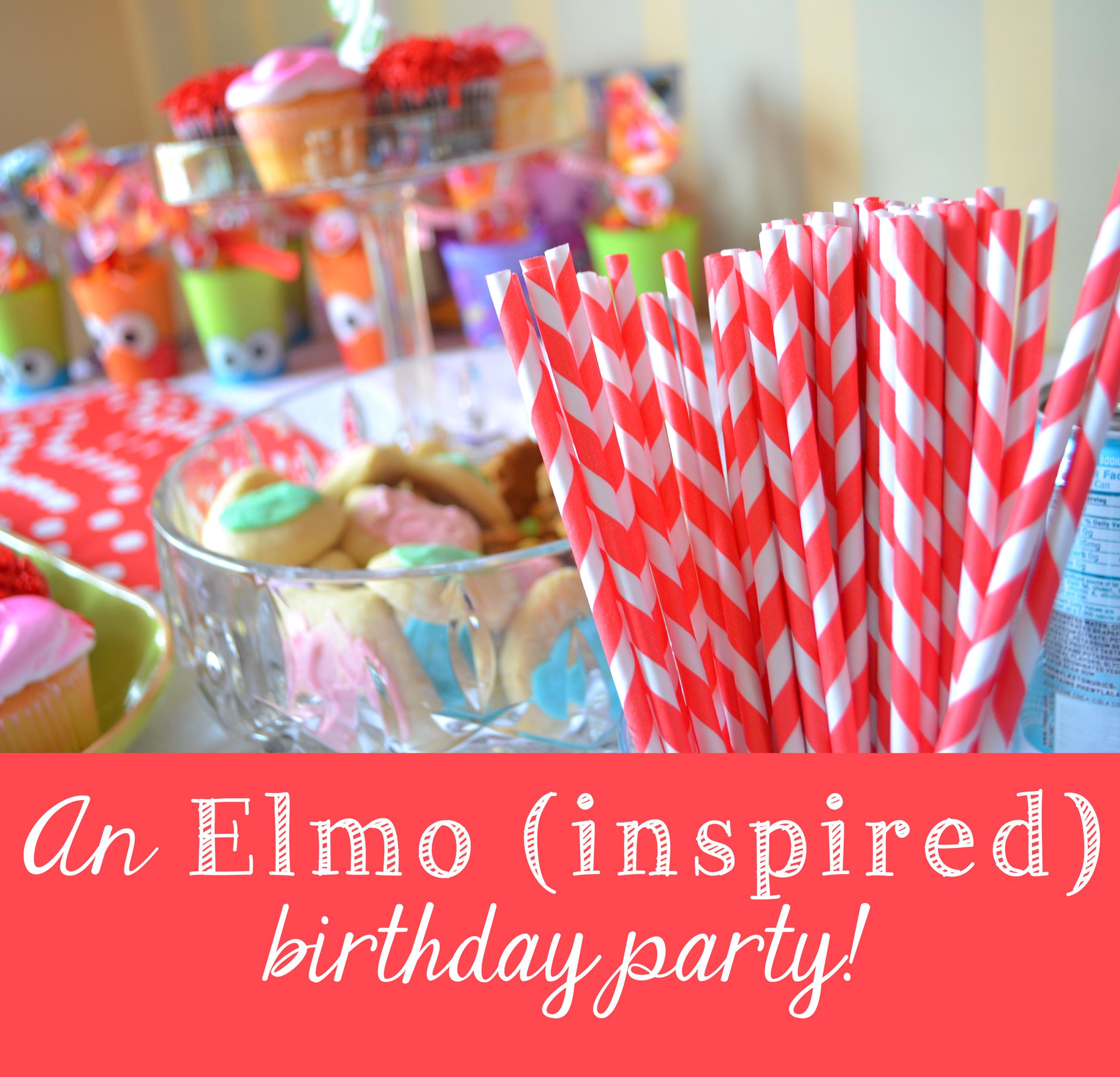 an elmo-ish birthday celebration