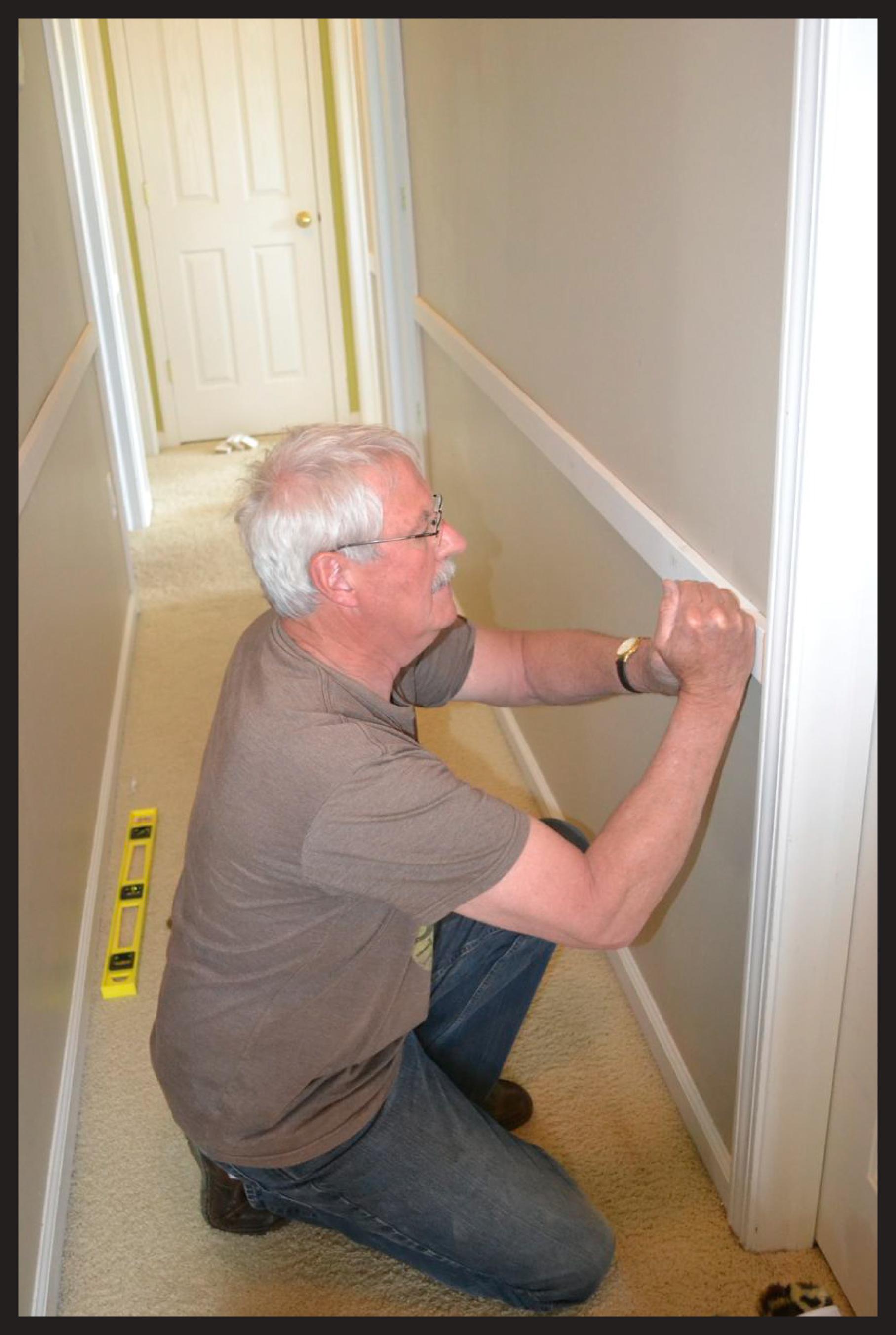 inexpensive stairway/hallway update
