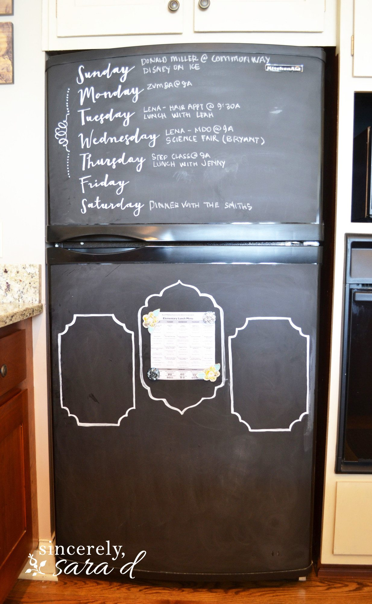 Chalkboard For Kitchen Chalkboard Ideas And Tips Sincerely Sara D