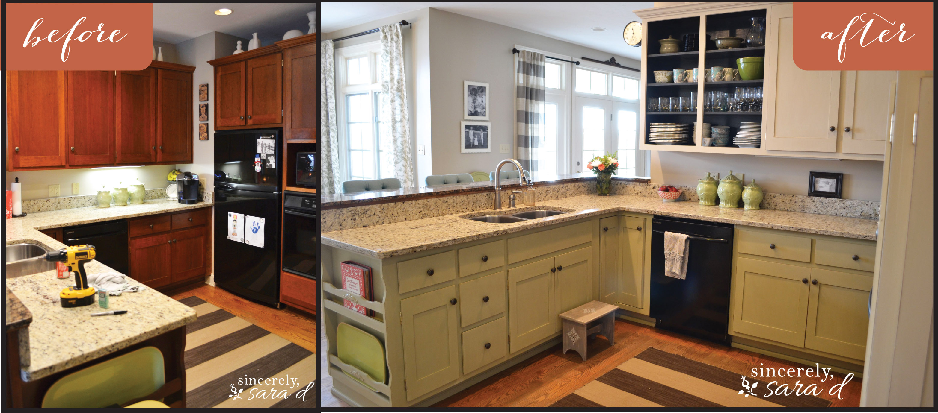 Painting Kitchen Cabinets ~ Painting kitchen cabinets with chalk paint update