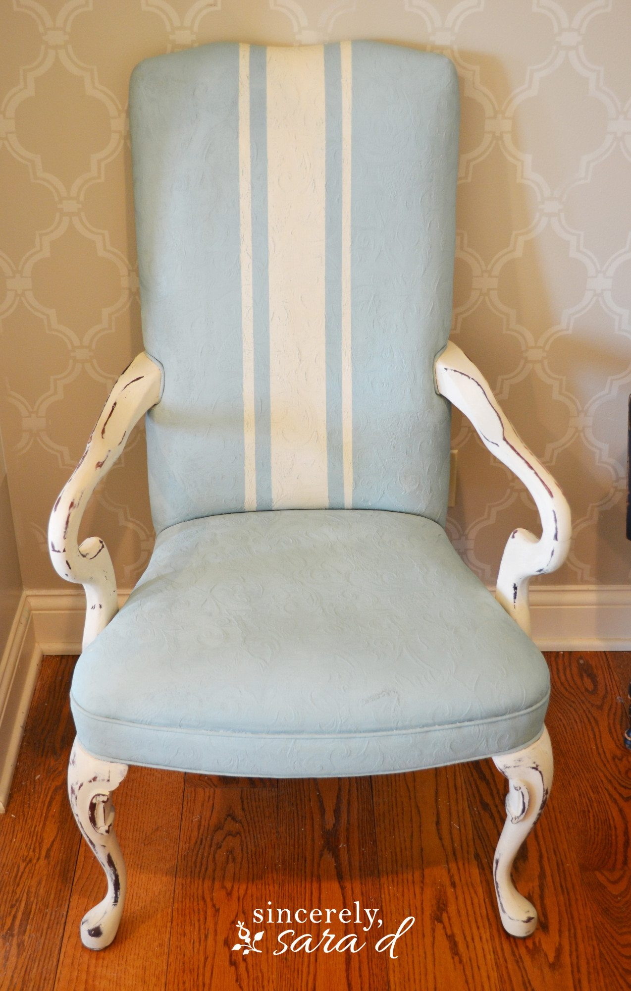 Paint A Fabric Chair Sincerely Sara D