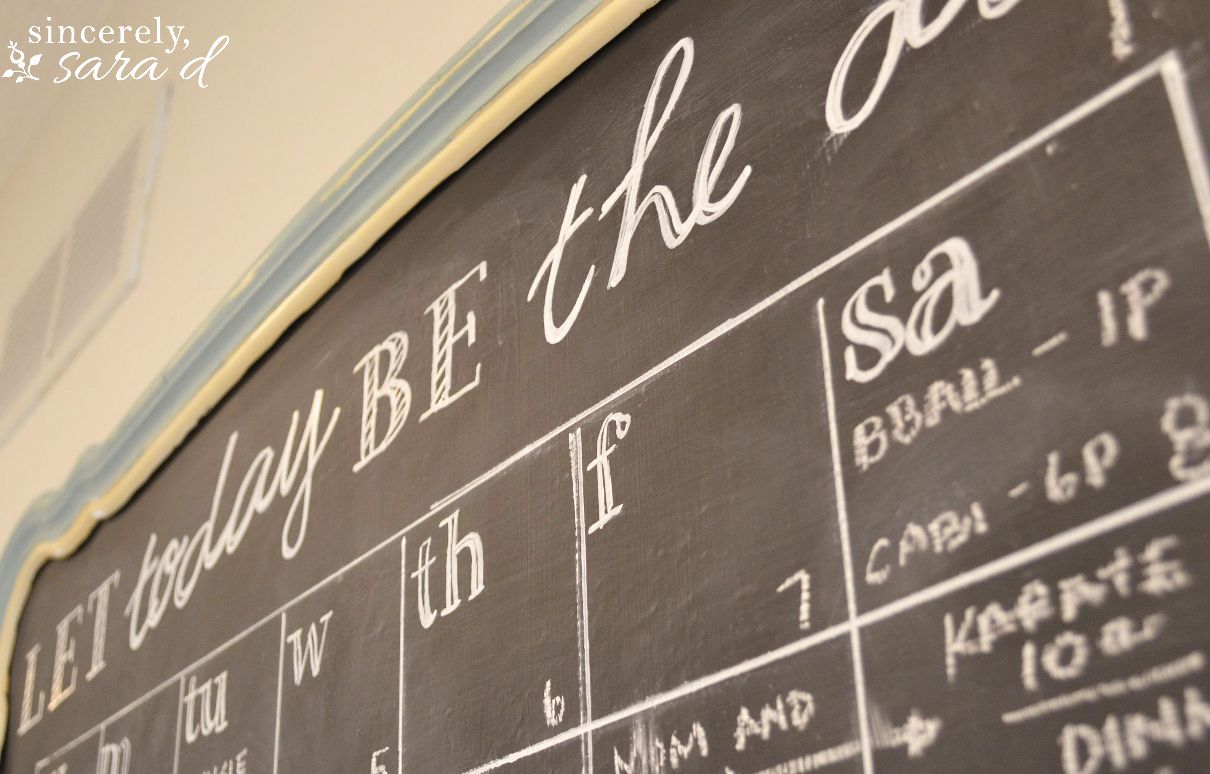 diy chalkboard calendar sincerely sara d