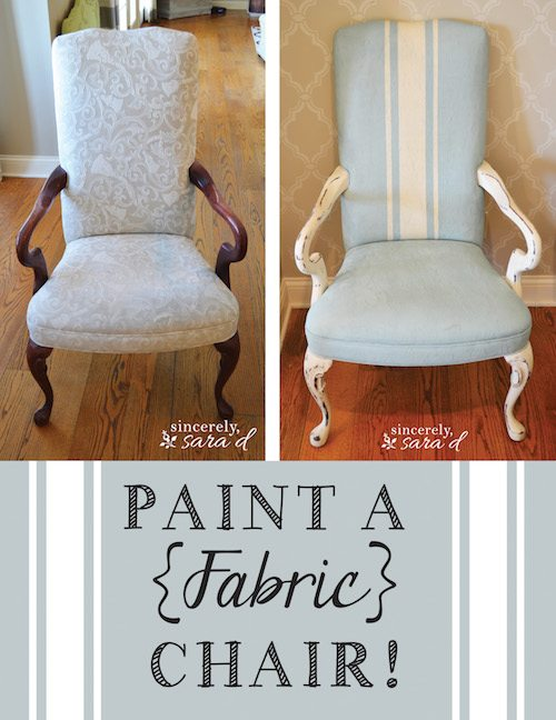 paint a fabric chair sincerely sara d. Black Bedroom Furniture Sets. Home Design Ideas