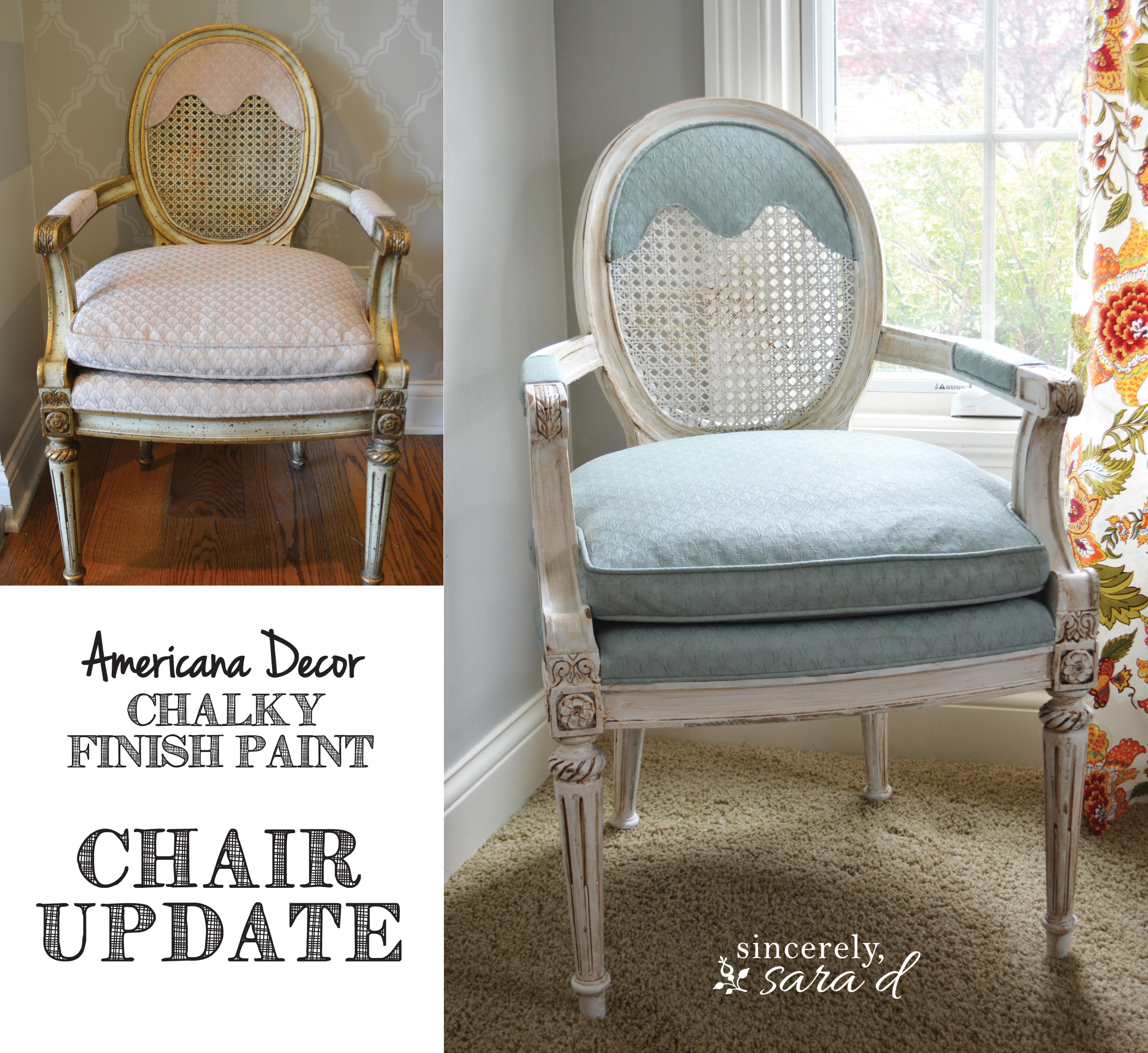 Painted fabric chairs - Painted Upholstered Chair Using Chalky Finish Paint