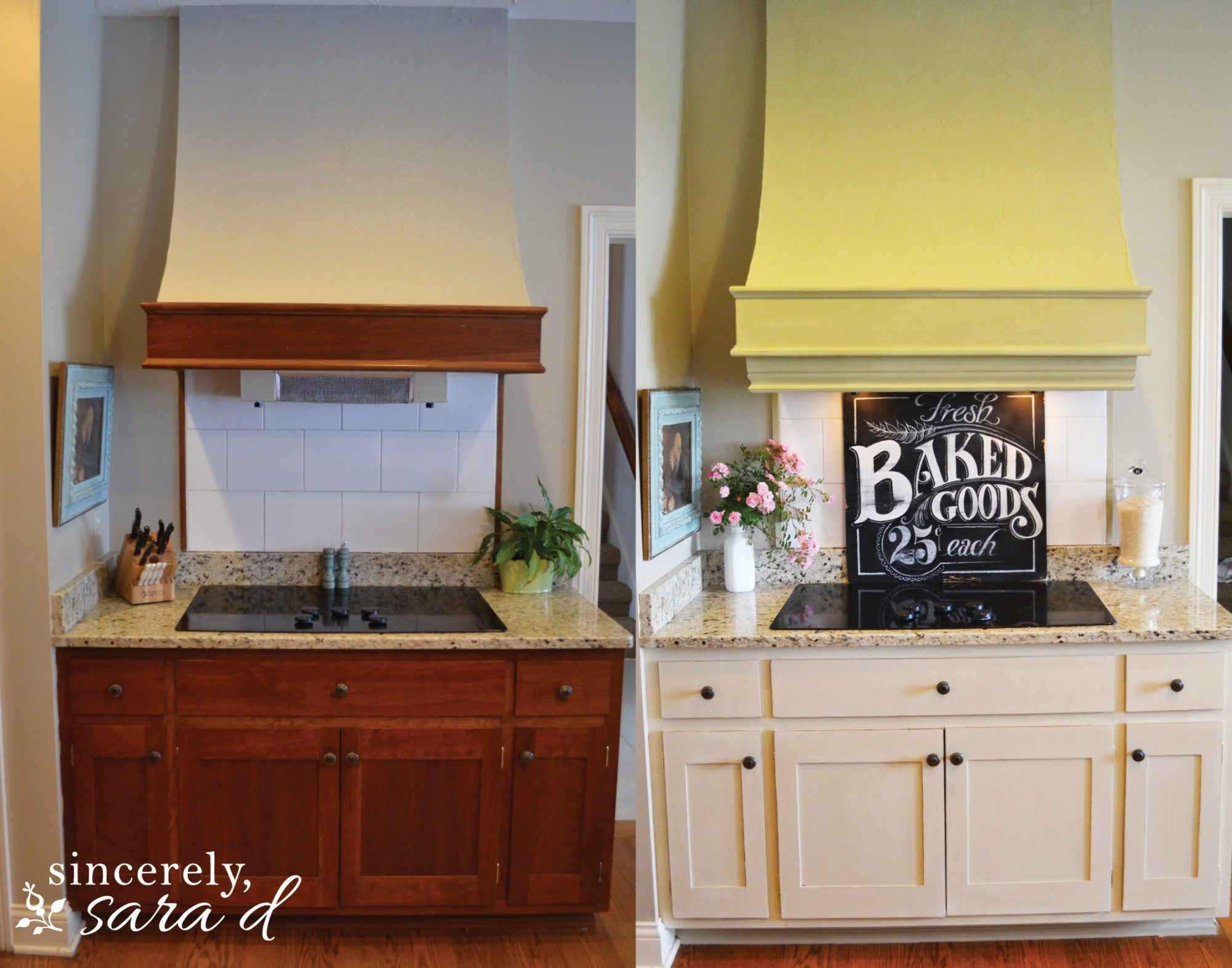 painting kitchen cabinets with chalk paint update - sincerely, sara d.