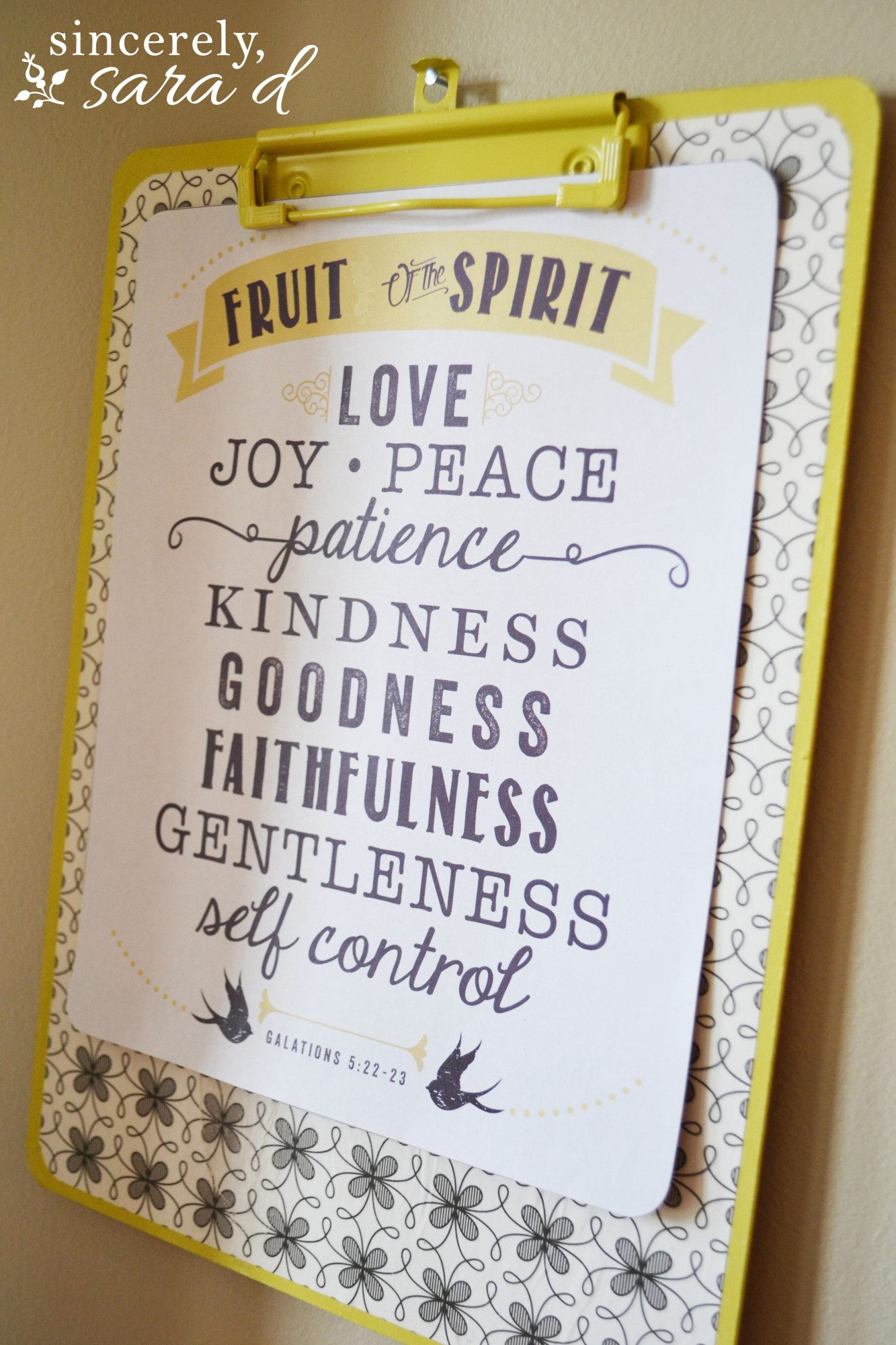 Fruit of the Spirit (6)