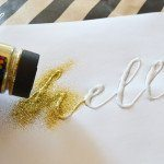 DIY Gold Glitter Typography