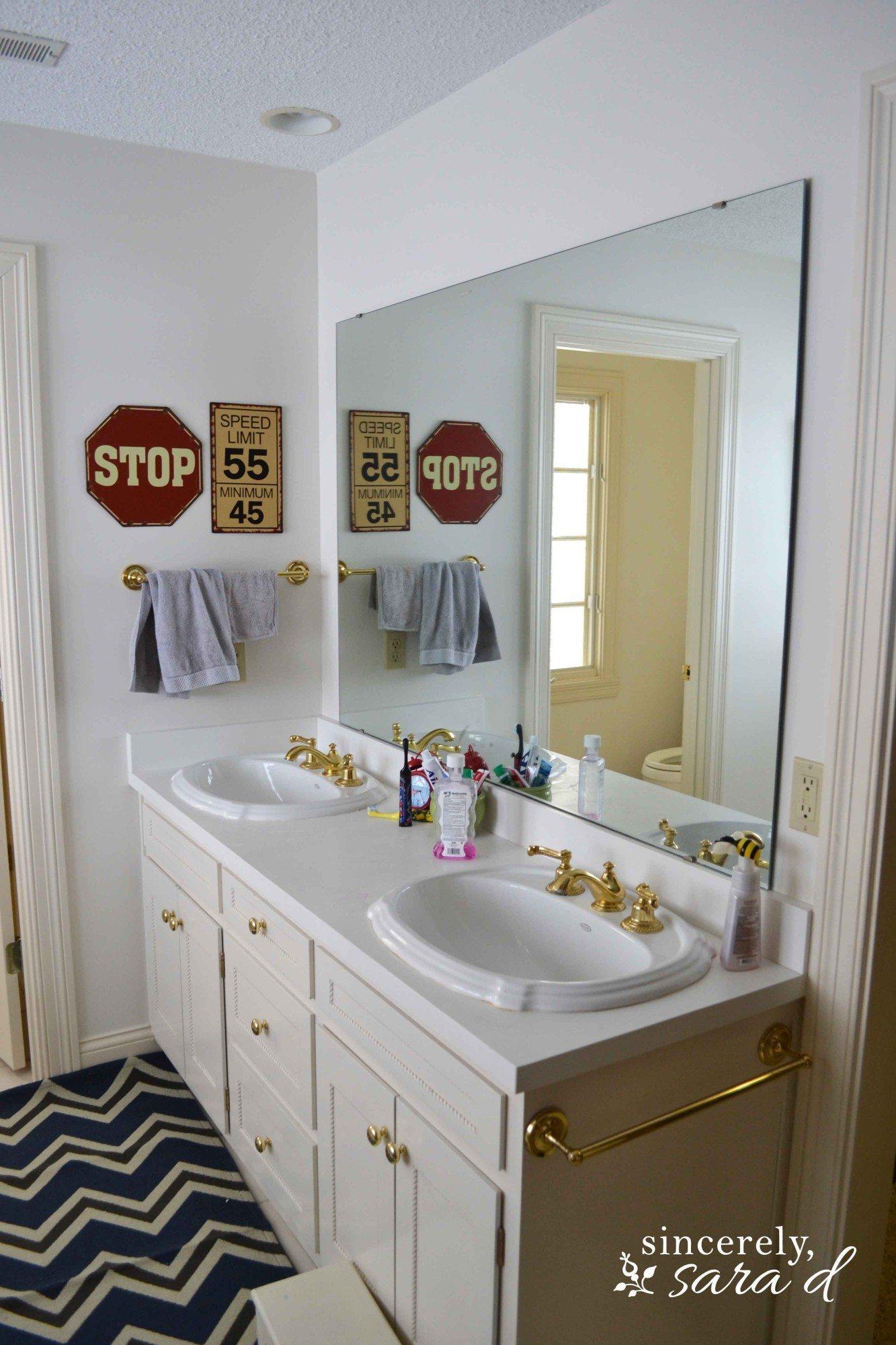Boys Bathroom Before