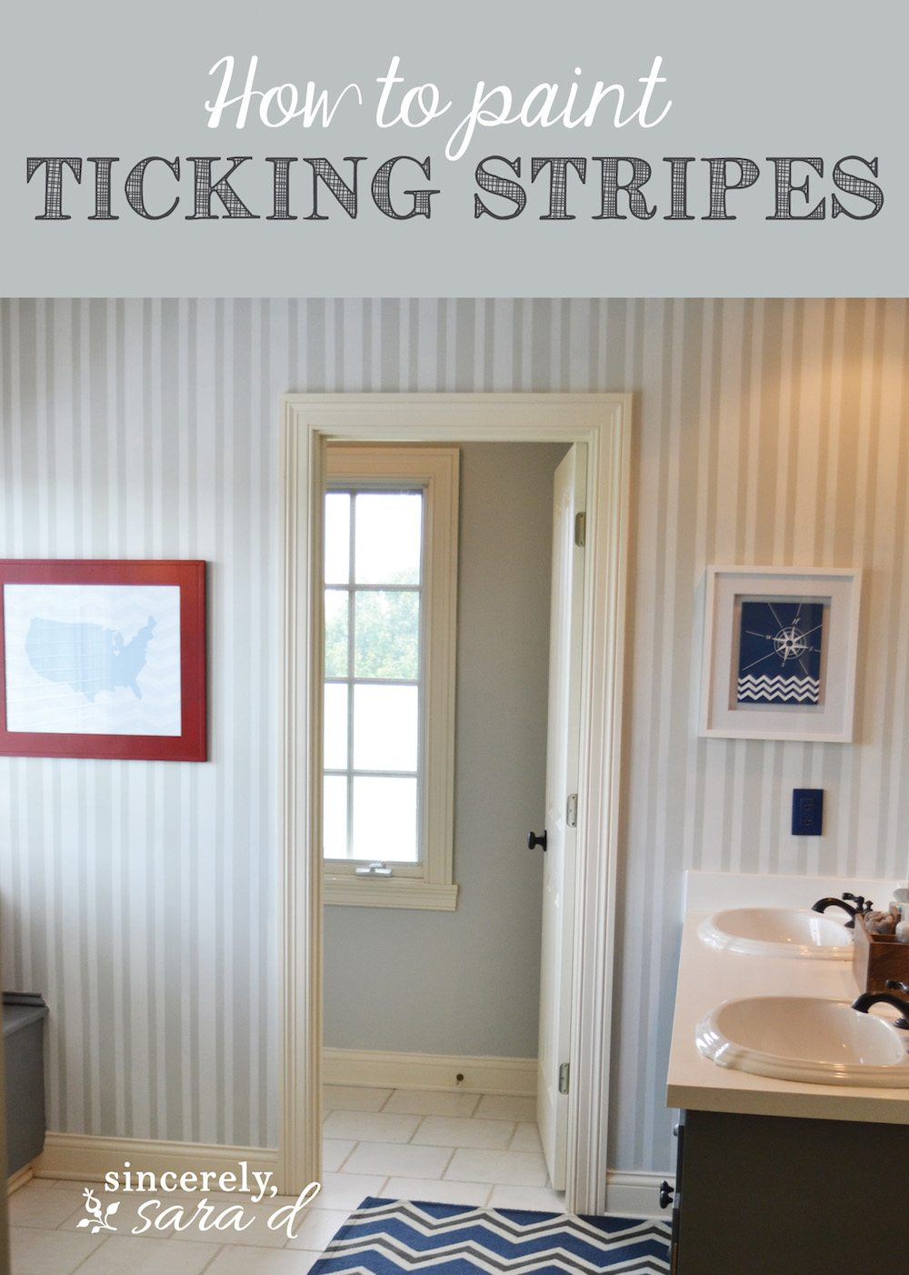 Painted Walls Cool With Painted Striped Bathroom Walls Image