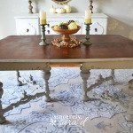 Chalk Painted Dining Room Table