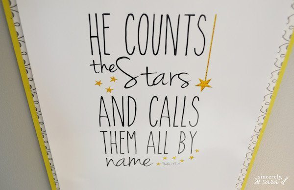 FREE October Printable: Psalm 147:4