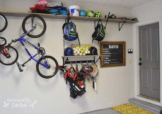 Garage Sport Equipment Organzier
