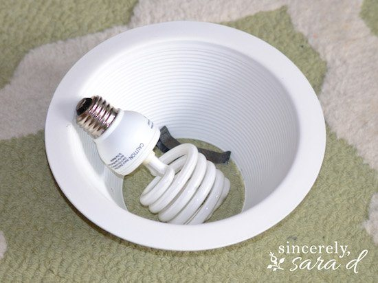 Remove Recessed Lighting Clips : How to transform a recessed light into chandelier