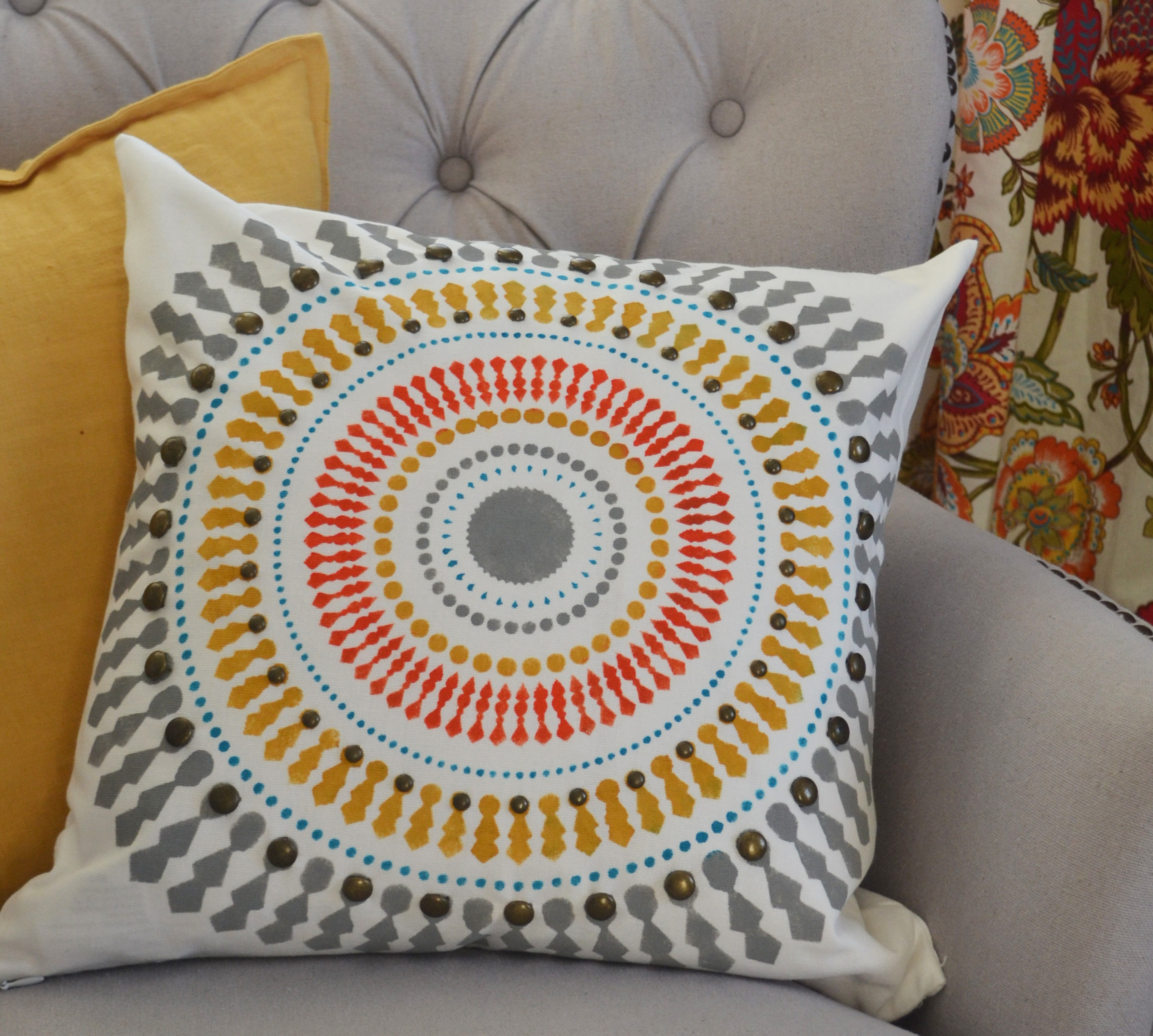bright pillow cover
