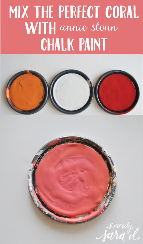 Chalk Paint Mixed Coral