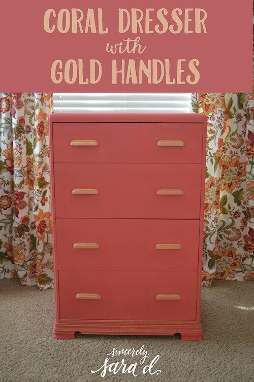 Gold Painted Dresser Dresser With Gold Handles