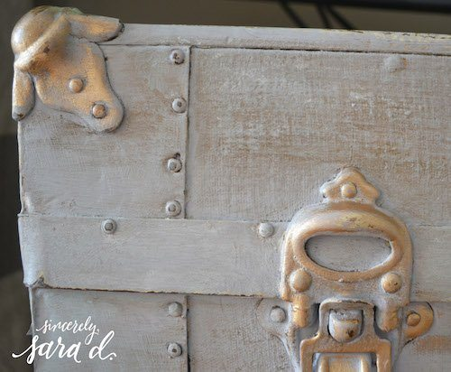 Gray Chalk Paint with Gold Wax