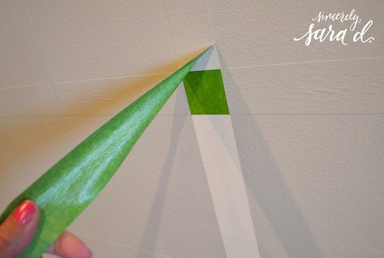 Using Frog Tape for Patterns