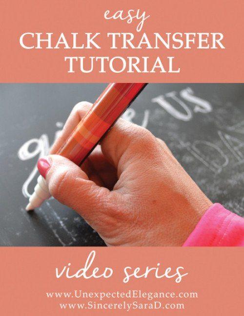 Chalkboard Transfer Video Tutorial