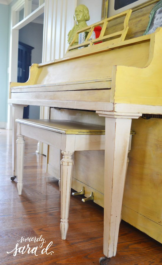 Yellow Painted Piano