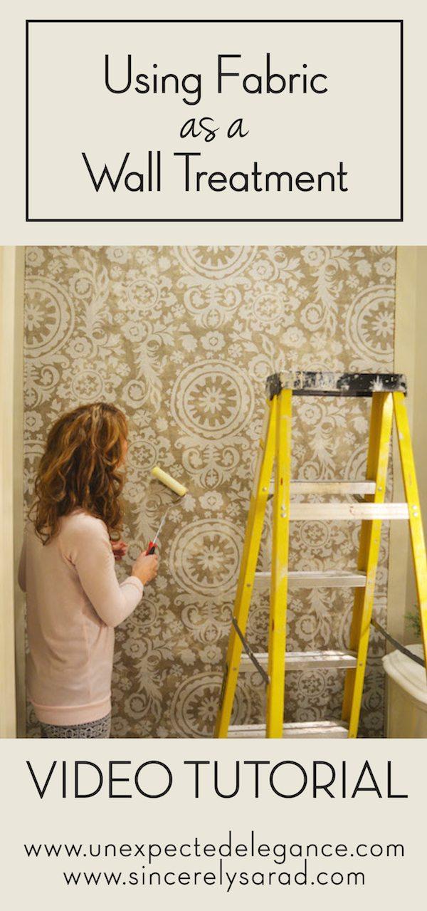 Video Tutorial: Fabric Wallpaper