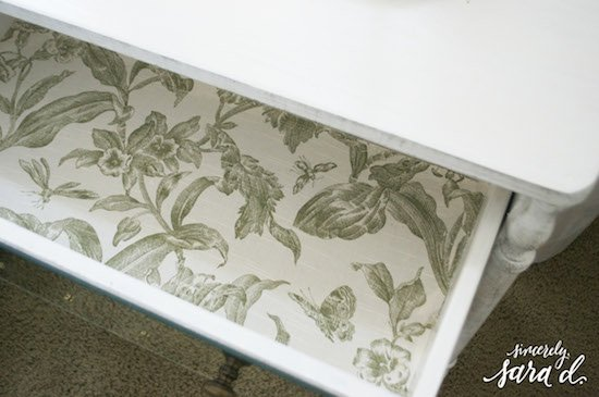 Starched Fabric Drawer Liners