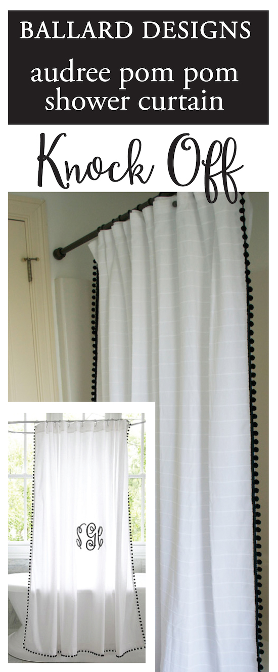 ballard designs shower curtain knock off amp hardware update outdoor curtains ballard designs decoration home ideas