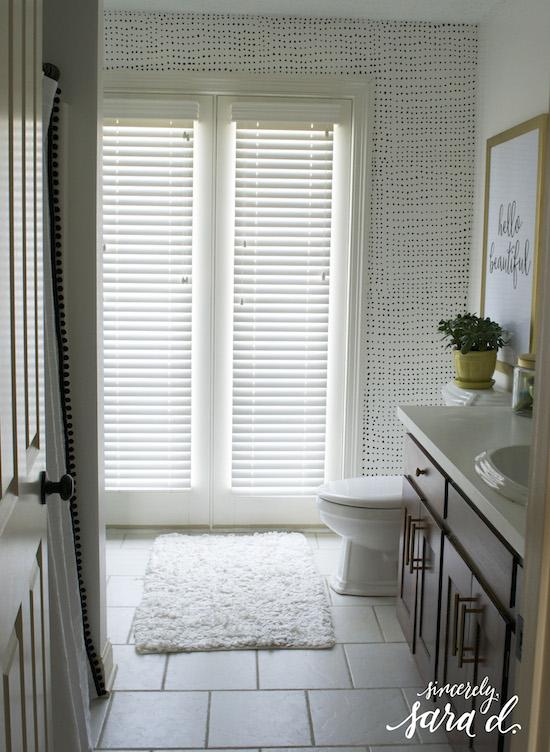 ballard designs shower curtain knock off amp hardware update suzanne kasler greek key linen shower curtain ballard