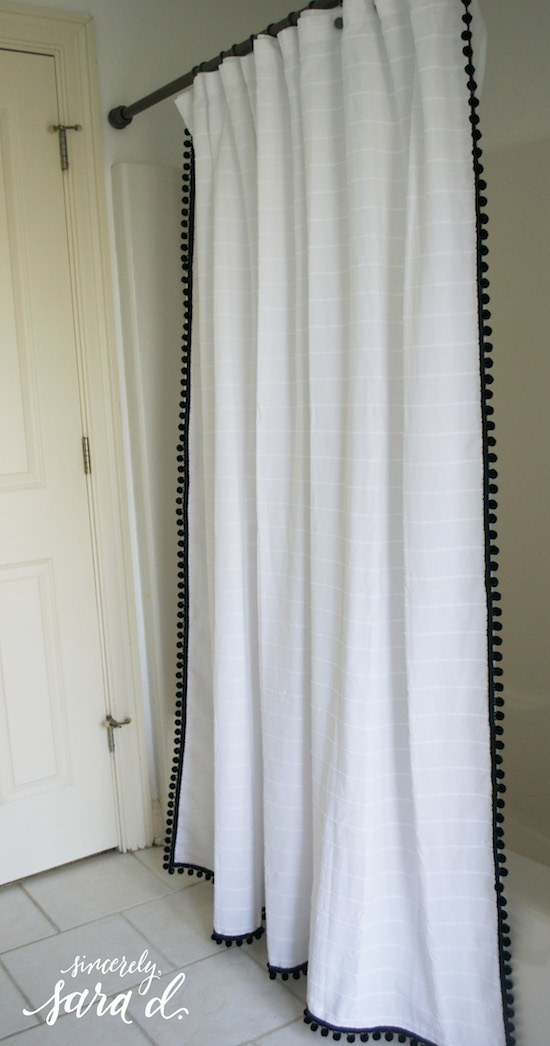 ballard designs shower curtain knock off amp hardware update ballard designs check gingham drapes panels curtains