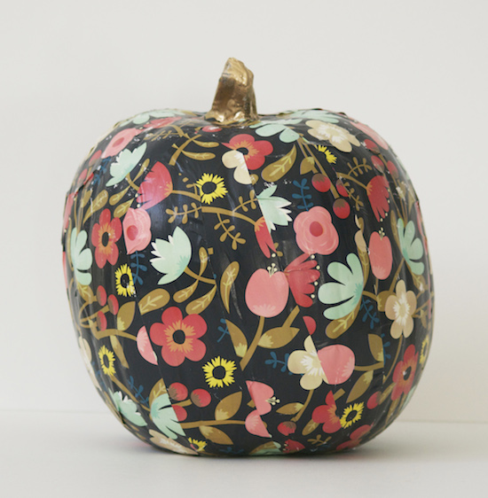 Unique ways to decorate pumpkins sincerely sara d Flower painted pumpkins