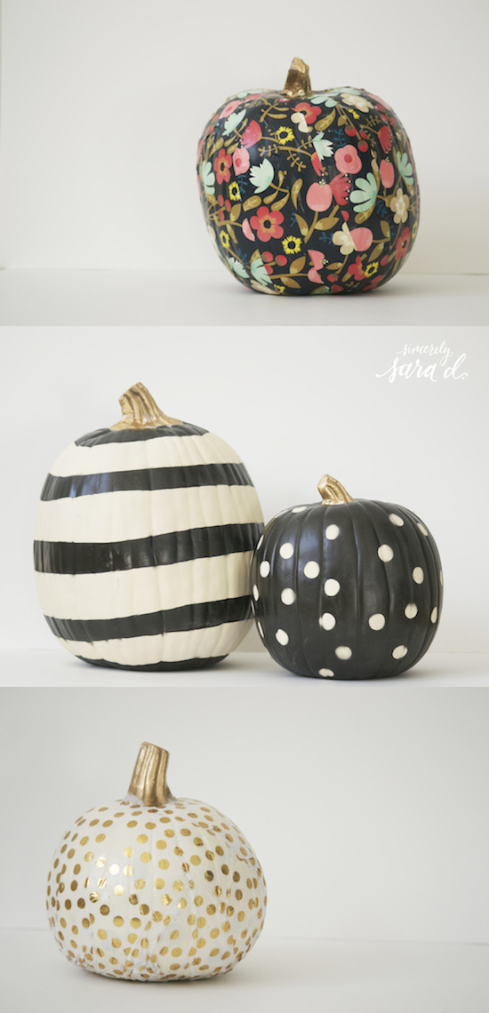 Unique ways to decorate pumpkins sincerely sara d Unique pumpkin decorating ideas