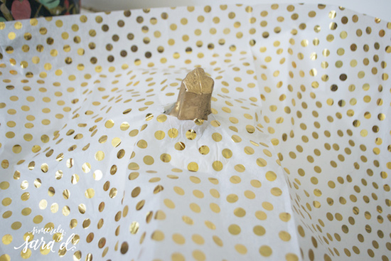 Tissue Paper on Pumpkins