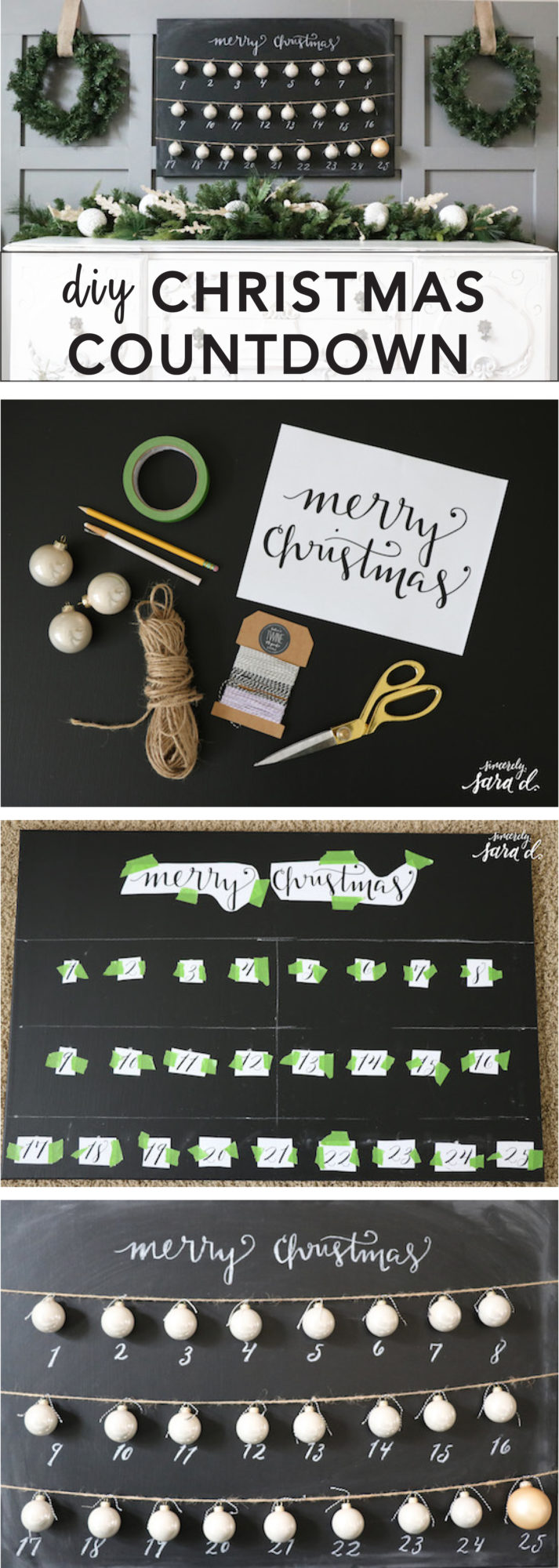 DIY Christmas Countdown Tutorial