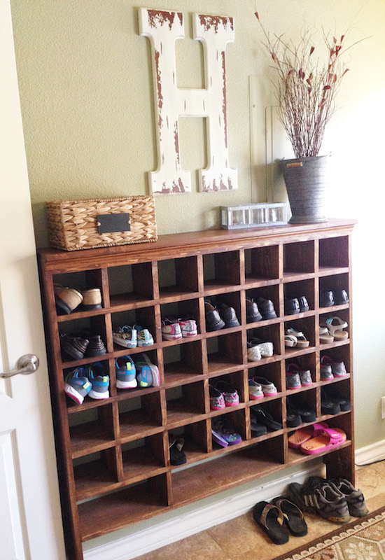 Home Made Shoe Cubby