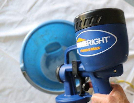 Spraying soapy water