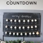 DIY Chalkboard Christmas Countdown