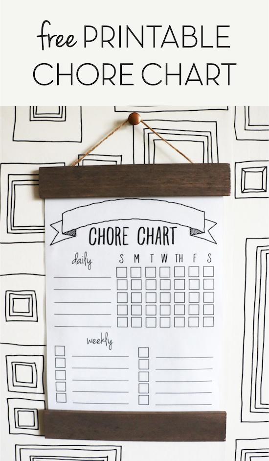 DIY Printable Chore Chart
