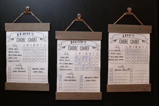 Printable Chore Charts DIY