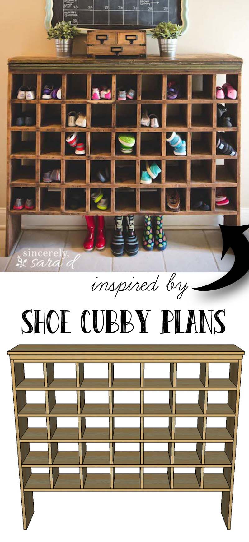 build your own shoe cubby remodelaholic sincerely sara d shoe cubby plans