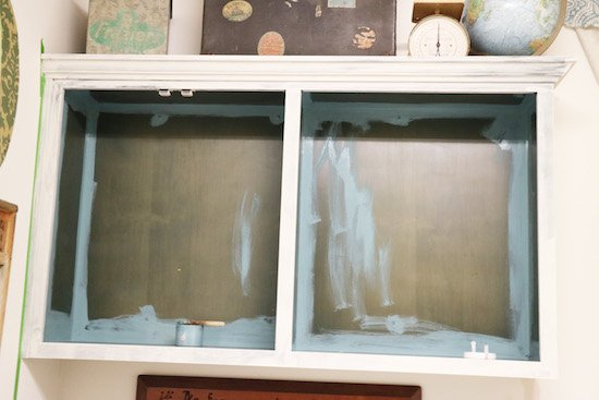 Painting cabinets with one step chalk type paint for Best brush for painting cabinets