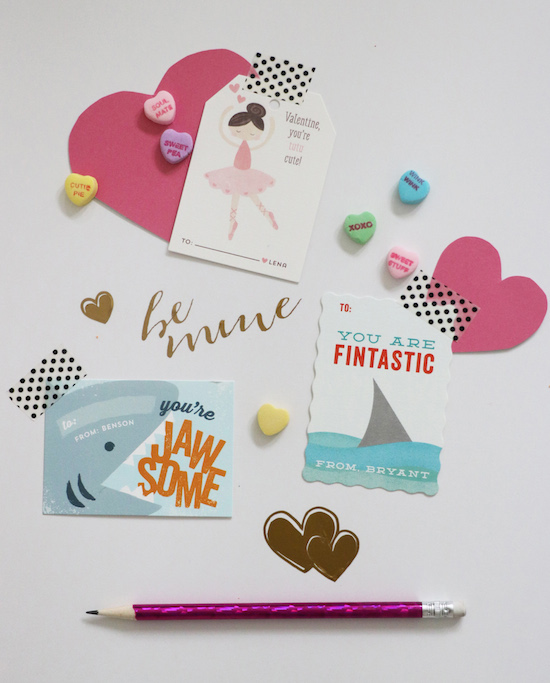 Minted valentines day cards