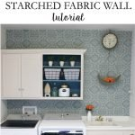 Starched Fabric Wall Tutorial with Remodelaholic