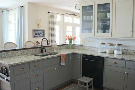 why i repainted my chalk painted cabinets. beautiful ideas. Home Design Ideas