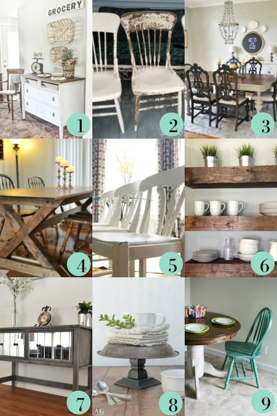 9 DIY Dining Room Furniture Ideas & Link Party #8