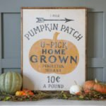 Pumpkin Patch Printable & Transferring an Image to Wood