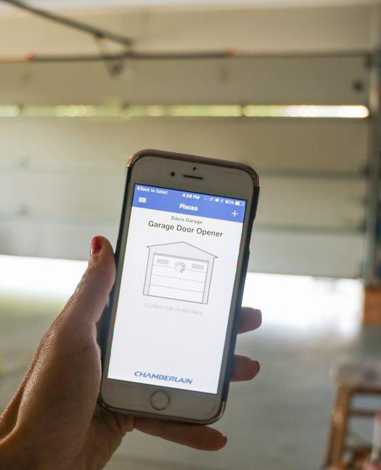 myq garage connects with your current garage door opener