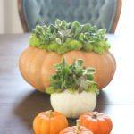 Pretty Fall Pumpkin Centerpieces