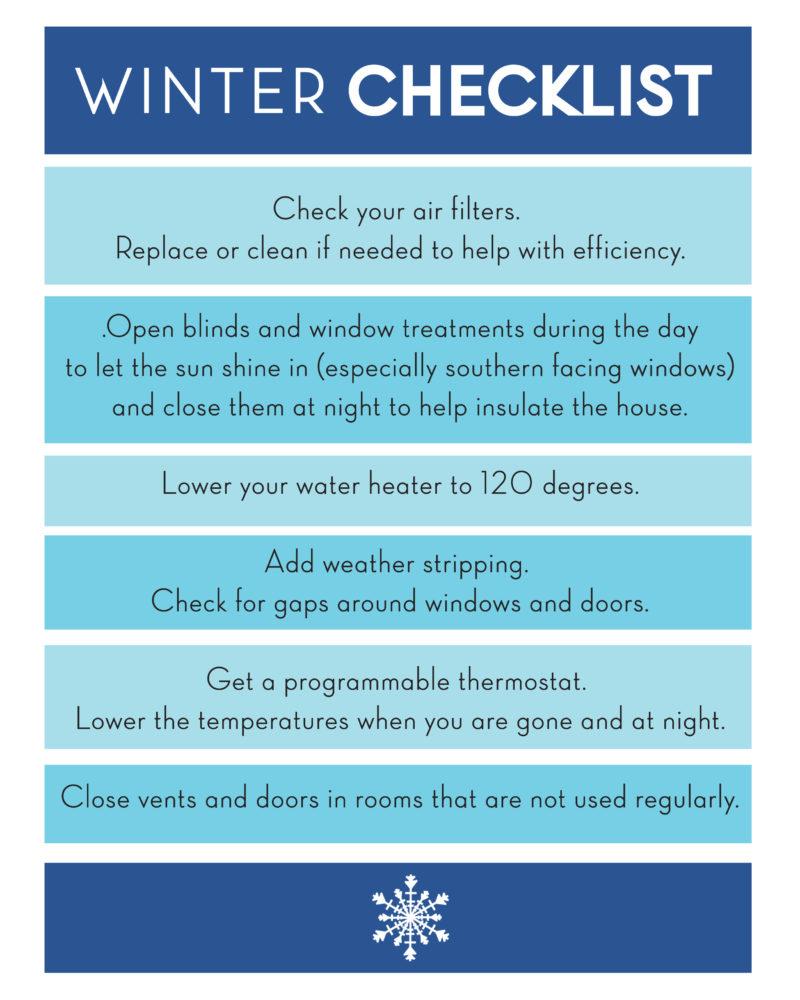 Winter Checklist Printable with Lennox®