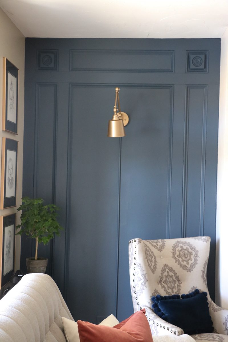 Diy Elegant Paneled Wall With Remodelaholic Sincerely